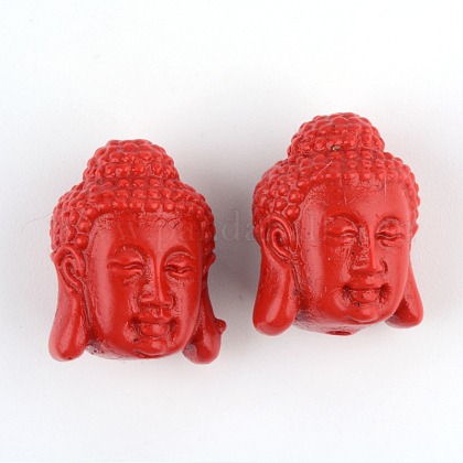 仏教ジュエリー辰砂ビーズCARL-Q004-43-1
