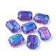 Two Tone Transparent Spray Painted Acrylic Bead ACRP-T005-28-1