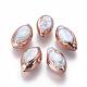 Perlas naturales abalorios de agua dulce cultivadasPEAR-F011-03RG-1