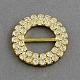 Brillante anillo de boda de la cinta invitación hebillasRB-R007-27mm-02-1