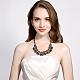 Mujeres de la moda de joya de zinc collares del collar de rhinestone de cristal de aleación babero declaración gargantillaNJEW-BB15143-D-10