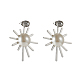 304 Stainless Steel Dangle Ear Studs EJEW-G261-01-2