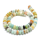 Natural Amazonite Bead Strands G-R408-5x8-04-2