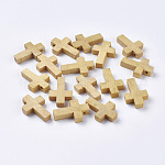 Wood Pendants, Cross Pendants, Camel, 22x14x4mm, Hole: 2mm