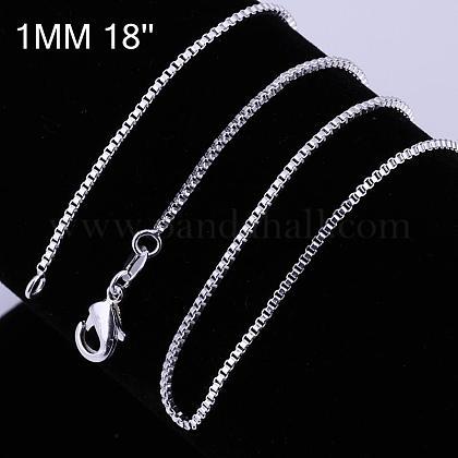 Brass Box Chain Fine Necklace MakingNJEW-BB10849-18-1
