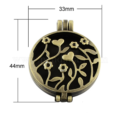 Estilo tibetano colgantes medallón difusorTIBEP-A24737-AB-FF-1