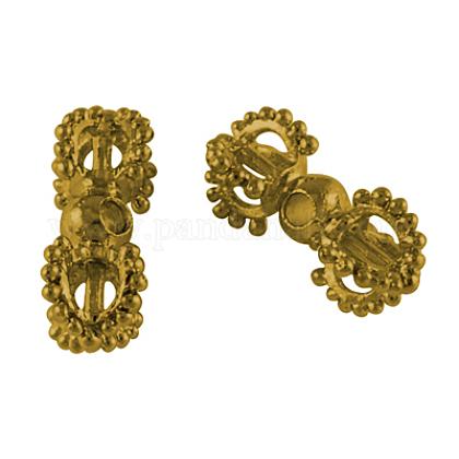 De metal estilo abalorios vajra dorje aleación tibetana para la fabricación de joyas budistaX-PALLOY-S601-AG-FF-1