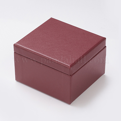 Light Cover Paper Jewelry Ring Box OBOX-G012-01A-1