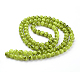 Spray Painted Glass Bead StrandsX-GLAD-S075-8mm-29-3