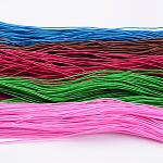 Round Elastic Cord, Made of Rubber, Wraped by Fibre, Mixed Color, 1mm, 23~25m/bundle