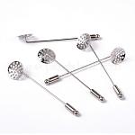 Brass Sieve Brooch Pins, Nickel Free, Platinum, Pin: 61x13.5x1mm; Cap: 4x12mm
