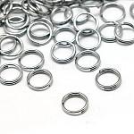 190piezas de joyería fornituras de color original 304 acero inoxidable anillos partidos, 5x1.2mm; aproximadamente 3.8 mm de diámetro interno, 190 unidades / 10 g