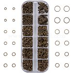 PandaHall Elite 500 pcs Brass Double Loops Jump Rings with Assistant Tool for Necklaces Bracelet Jewelry Making, Antique Bronze, 0.7x4/5/6/7/8/10mm, Inner Diameter: 3.6/3.6/4.6/5.6/6.6/8.6mm