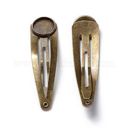 Fornituras pinza de pelo de hierroMAK-Q009-02AB-12mm-1