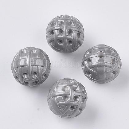 Supports de strass perle acrylique opaque peint par pulvérisationMACR-T035-010B-1