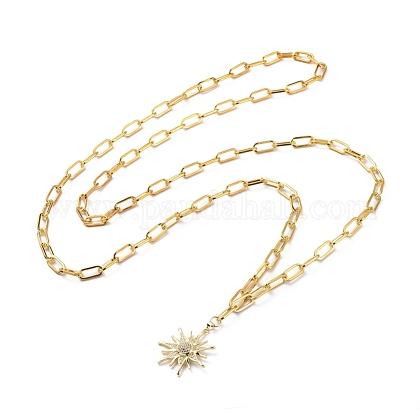 Iron Paperclip Chain NecklacesNJEW-JN02668-1