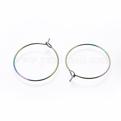 304ステンレス鋼フープピアスパーツSTAS-G201-07A-M-1