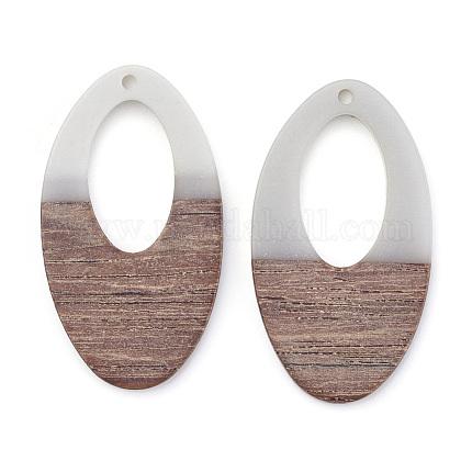 Colgantes de resina y madera de nogalRESI-T023-08B-1