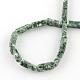 Cuboid природные зеленые нити шарик пятна драгоценный каменьG-R299-08-2