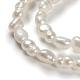 Perlas naturales abalorios de agua dulce cultivadasPEAR-D087-1-3
