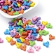 Colorful Acrylic Plastic Tri Beads for Christmas Ornaments MakingPTB145Y-1