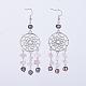 Tibetan Style Alloy Chandelier EarringsEJEW-JE02634-2