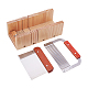 Wood Loaf Soap Cutter Tool Sets, Rectangular Soap Mold with Wood Box, Stainless Steel Straight Cutter, 3pcs/set, 25x12x8.5cm; 3pcs/set