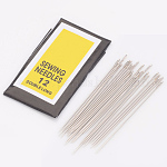 Iron Sewing Needles, Darning Needles, Platinum, 0.45mm thick, 40mm long, hole: 0.3mm, 25pcs/bag