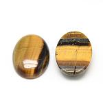 Natural Tiger Eye Cabochons, Oval, 18x13x5~6mm