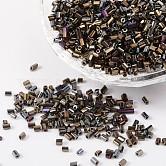 Deux perles de rocaille de coupe, hexagone, 11/0, brun, longueur d'environ 2 mm ,  largeur de 2 mm, Trou: 0.6mm, environ 37500 pcs / livre