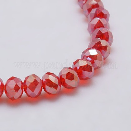 Electroplate Glass Bead StrandsX-EGLA-J047-8x6mm-AB05-1