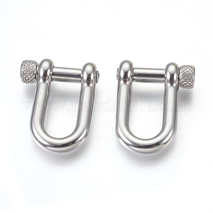 304 Stainless Steel  D-Ring Anchor Shackle Clasps STAS-O114-097P-1