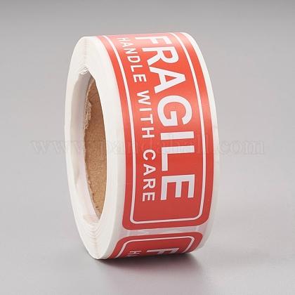 Pegatinas frágiles manejar con cuidado embalaje etiqueta de envío de advertenciaDIY-E023-04-1