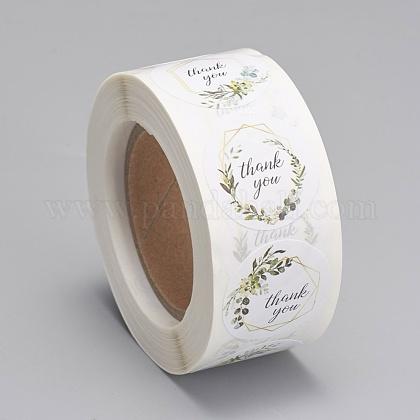 Etiquetas autoadhesivas de etiquetas de regalo de papel kraftDIY-G013-A03-1