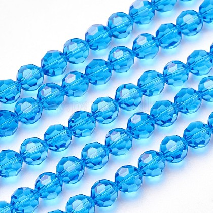 Imitation Austrian Crystal Bead StrandsG-M181-10mm-25A-1