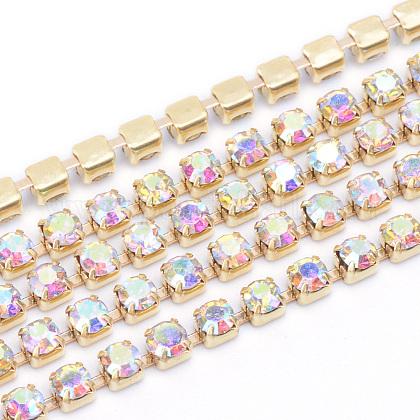 Cadenas de strass Diamante de imitación de bronceCHC-T003-SS14-02C-1
