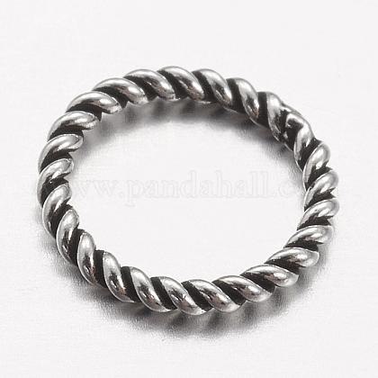925 anillos redondos de plata de ley tailandesaX-STER-P005-13-1