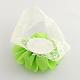 Cordón del bebé accesorios para el cabello cintas para el pelo elástico lindo con la flor del pañoX-OHAR-Q002-09F-2