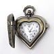 Cabezas de reloj de cuarzo de aleación de zinc de la vendimia corazón cepilladoWACH-R008-14-3