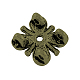 De aleación de estilo tibetano de varias vueltas enlaces flor del cirueloTIBE-0223-AB-FF-2