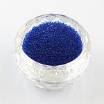 クリアDIY3Dネイルパーツミニサイズガラスビーズ, 小さなキャビアネイルビーズ, ミディアムブルー, 0.6~0.8ミリ。約450グラム/袋