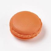 Mallette de transport de bague/collier bijoux de mini macarons mignons de couleur bonbon portable, chocolat, 4.2x2~2.1cm; diamètre intérieur: 2.7cm