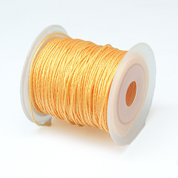 Round Metallic Cord, 12-Ply, PeachPuff, 1mm; about 50m/roll