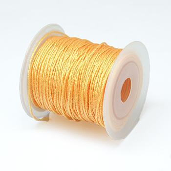 Cuerda metálica redonda, 12 capa, peachpuff, 1 mm; aproximamente 50 m / rollo