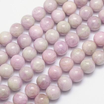 Natural Kunzite Round Beads StrandsG-I164-12mm-1