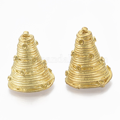 Brass Bead Cone Rhinestone SettingsKK-T040-171-NF-1