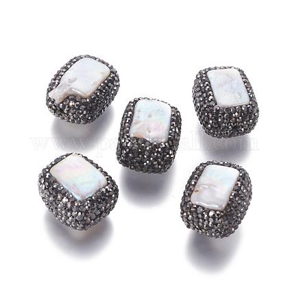 Perlas naturales abalorios de agua dulce cultivadasPEAR-F015-47-1