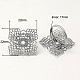 Anillo base de filigrana de bronceX-KK-I019-S-1