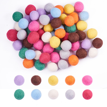 Wool Felt Balls, Pom Pom Balls, for DIY Decoration Accessories, Mixed Color, 20mm