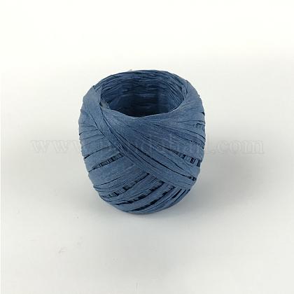 Cordones de papel de rafia para hacer joyas de diy.OCOR-WH0009-A-G05-1